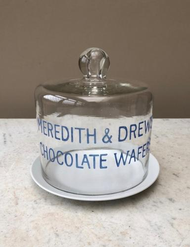 Edwardian Shops Glass Meredith & Drew Chocolate Wafer Dome