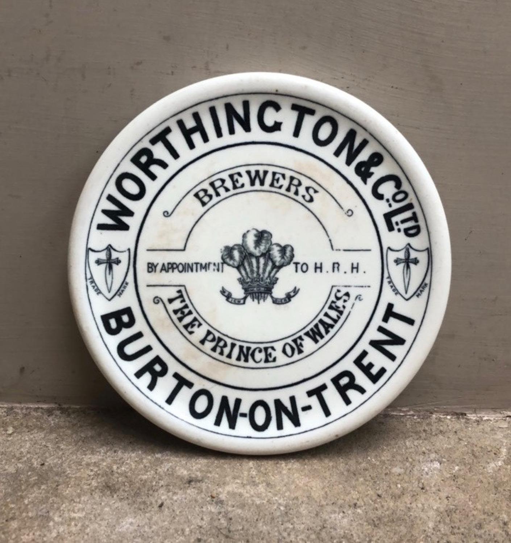Rare Edwardian White Ironstone Advertising Coast Tea Pot Stand