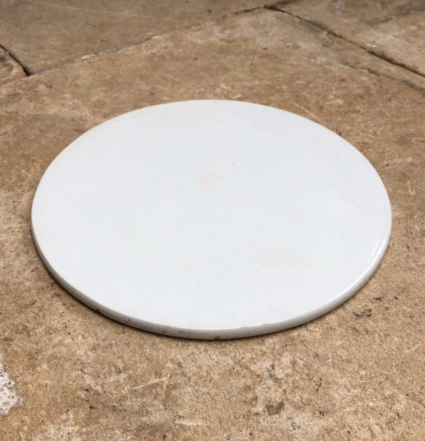 Edwardian White Ironstone Plate - Perfect under Dome