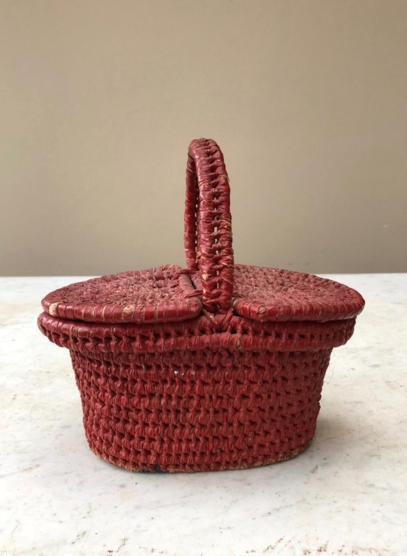 Antique Pretty Childs Basket
