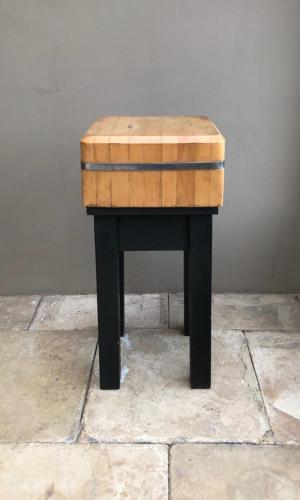 1950s Maple Butchers Block on Painted Pine Base