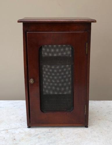Edwardian Mahogany Table Top Cheese Safe