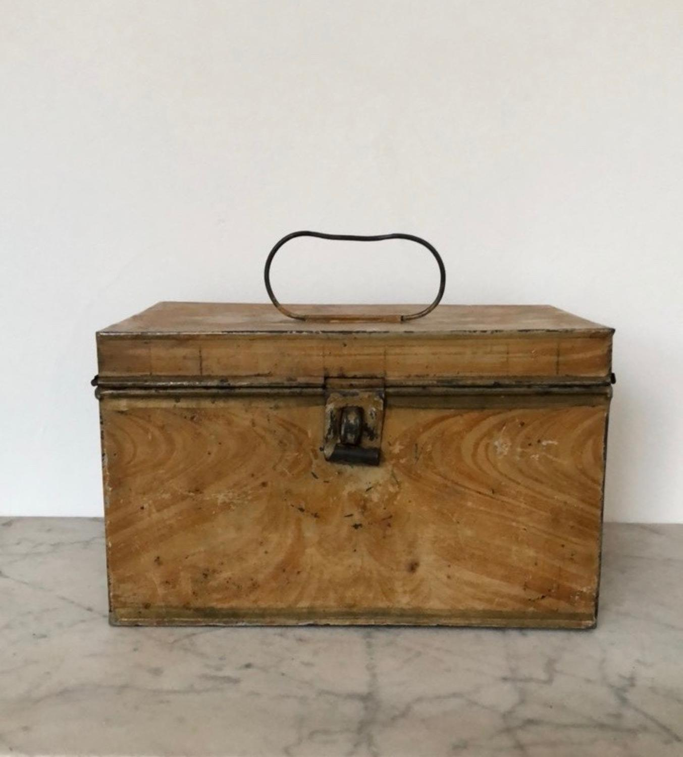 Victorian Toleware Table Top Chest