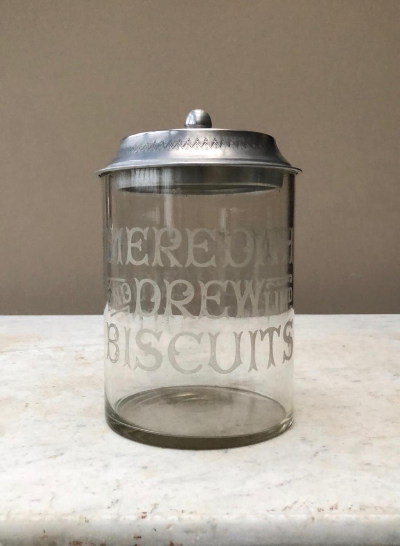 Edwardian Shops Advertising Biscuit Barrel - Meredith & Drew