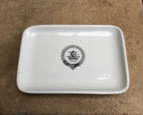 Superb Victorian Grocers or Butchers Display Plate - William Parnall