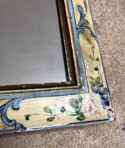 Victorian Painted Pine Table Mirror