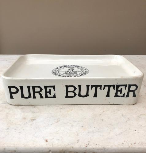 Edwardian Pure Butter Grocers Slab - Parnell & Sons Stamp on the Top
