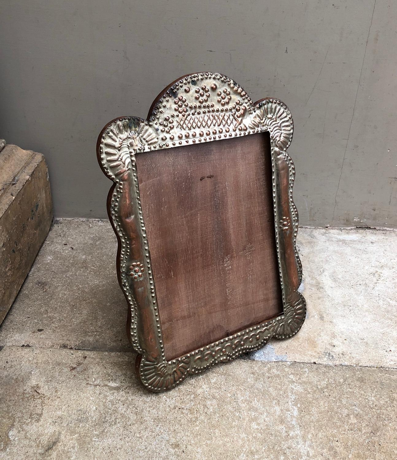 pressed metal furniture. 1950s Large Pressed Metal Photograph Frame - Picture 2 Furniture A