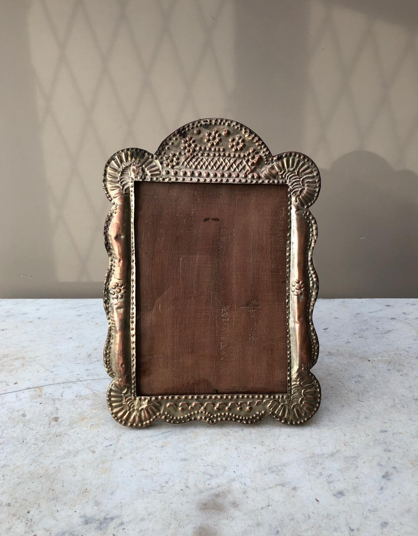 pressed metal furniture. 1950s Large Pressed Metal Photograph Frame - Picture 4 Furniture