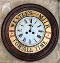 Edwardian Toleware Advertising Clock - Nestles Swiss Milk For All Time - picture 6