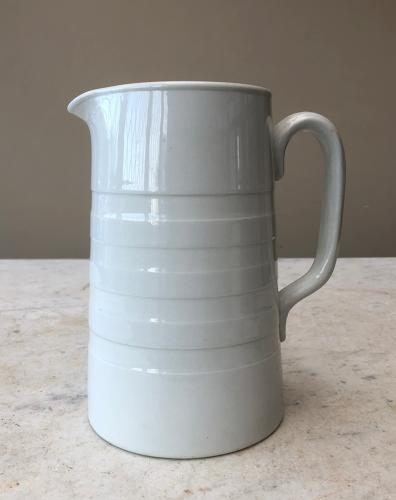 Edwardian White Banded 2 Pint Dairy Cream Jug in Mint Condition
