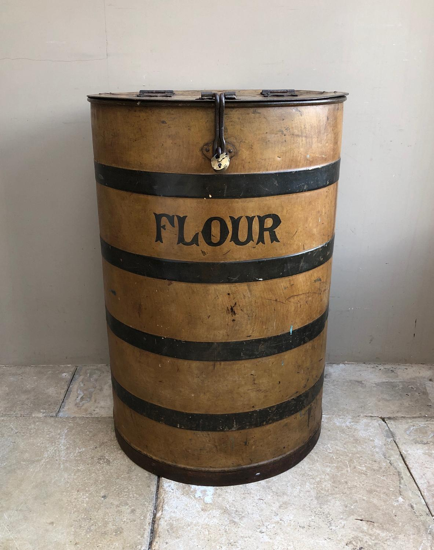 Large Victorian Toleware Flour Bin in Superb Original Condition