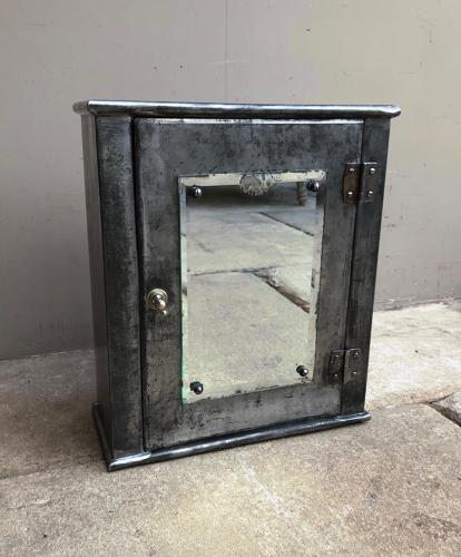 Mid Century Industrial Steel Bathroom Cabinet