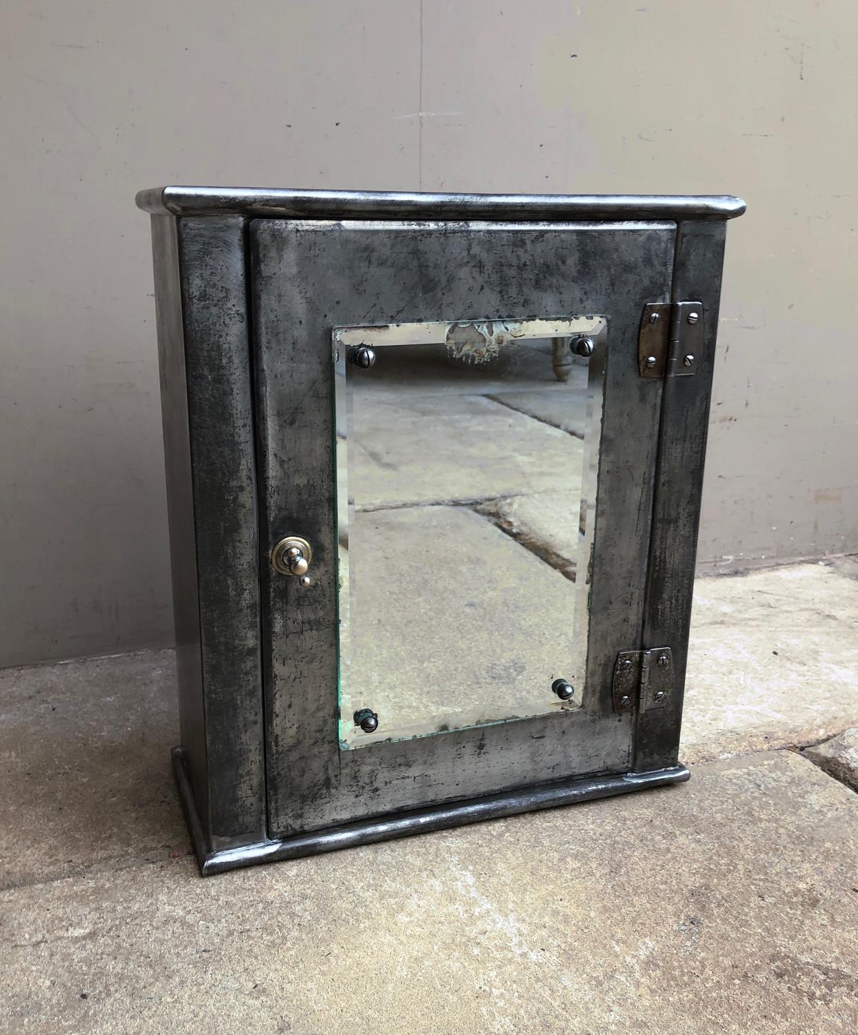 Mid Century Industrial Steel Bathroom Cabinet