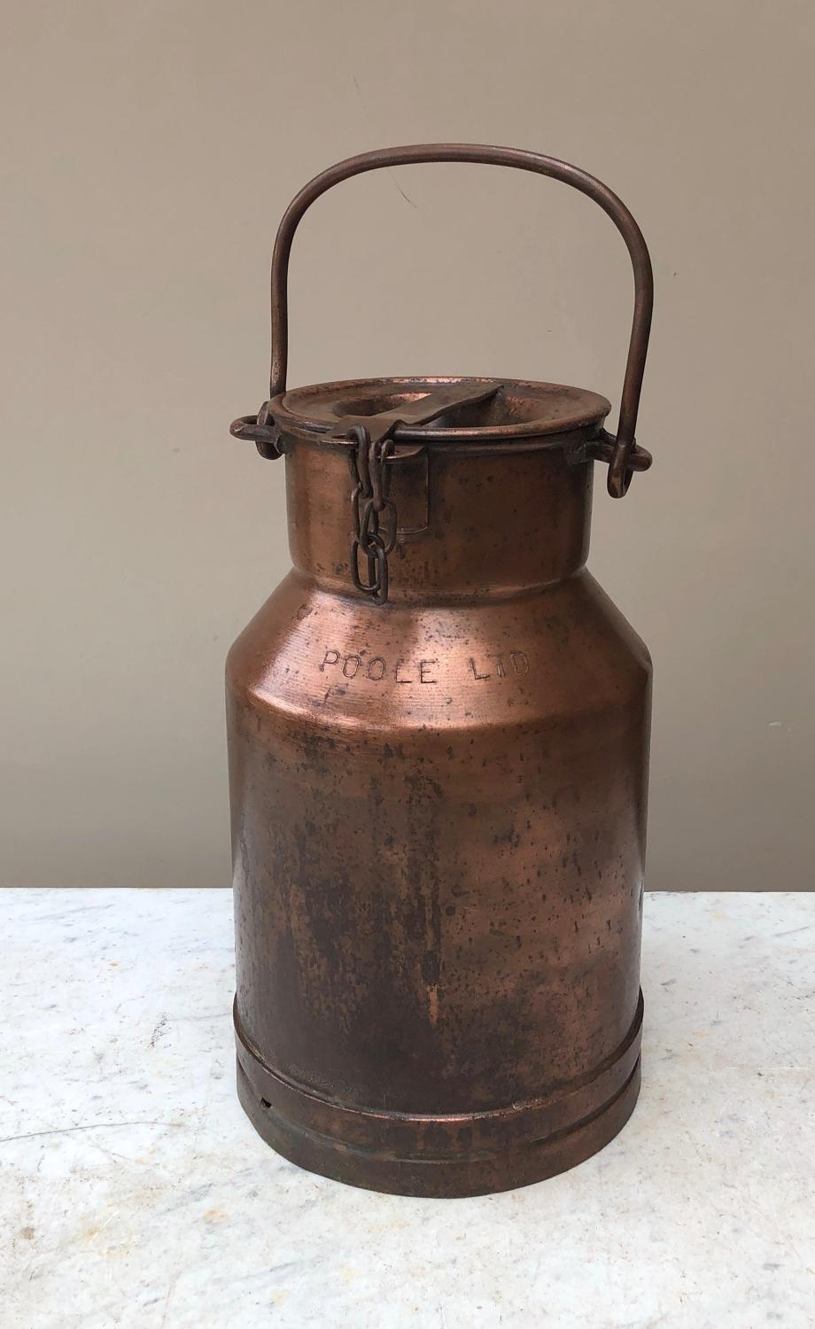 Victorian Copper Cream Churn - Oakdale Creameries