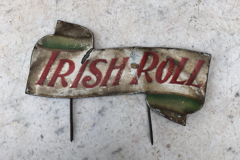 Edwardian Butchers Toleware Sign - Irish Roll
