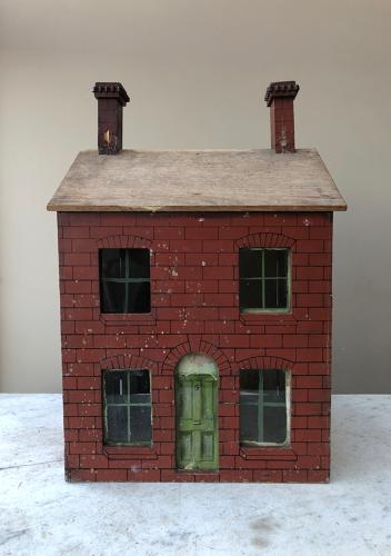 Edwardian Painted Pine Dolls House