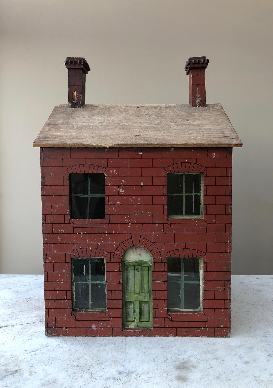 Edwardian Painted Pine Dolls House