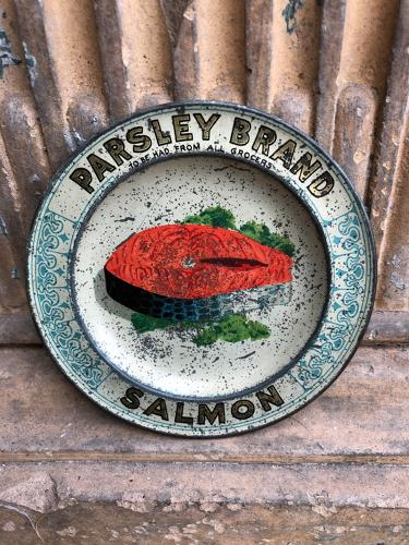 1920s Shops Advertising Change Tray - Parsley Brand Salmon