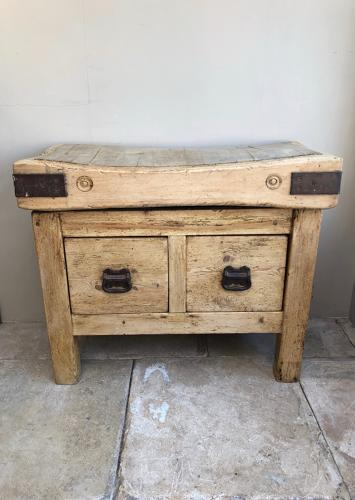 Victorian Butchers Block on Double Side Pine Base
