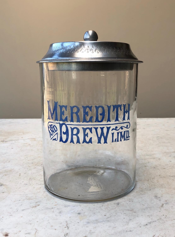 Edwardian Meredith & Drew Biscuit Barrel