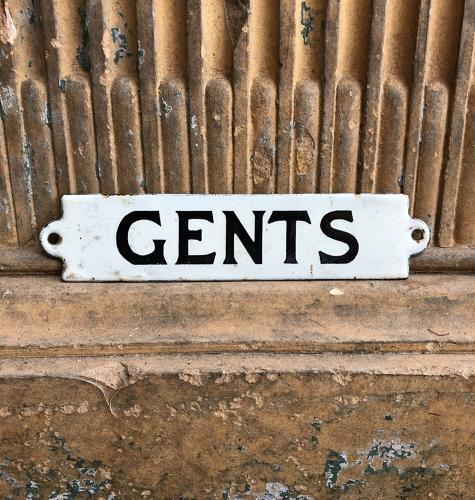 Early 20th Century Enamel Sign - Gents