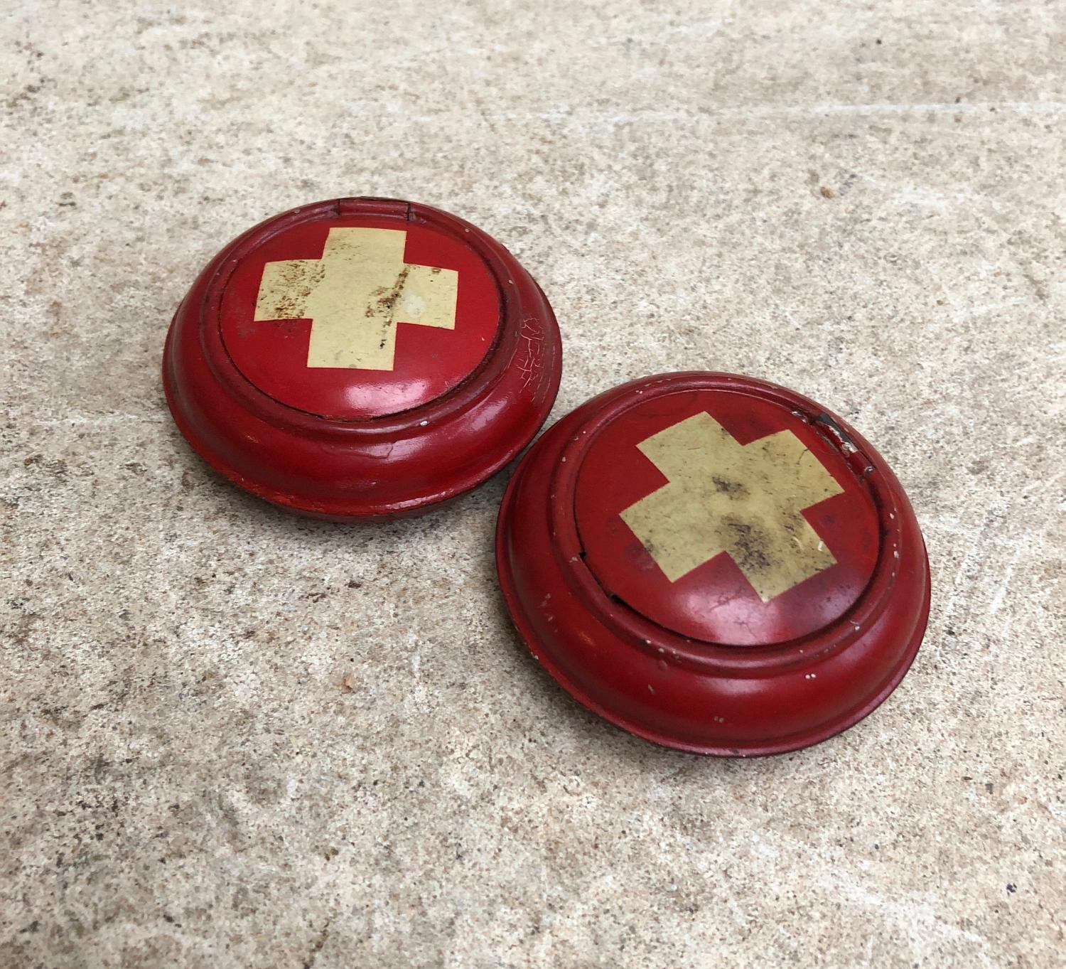 Two 1920s Toleware Pill Pots - Selling Individually