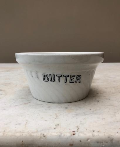 Edwardian White Ironstone Butter Dish