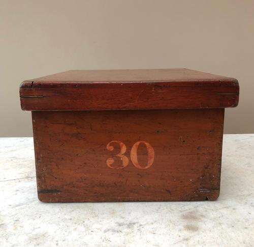 Edwardian Mahogany Drapers Counter Top Shirt Box