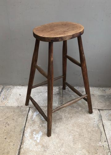Mid Century Beech Kitchen or Bar Stool