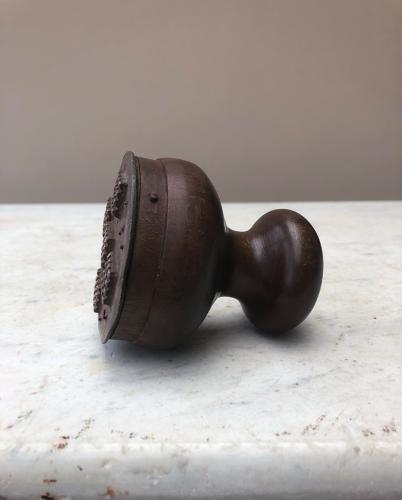 Edwardian Bakers Treen & Brass Bakers Biscuit Stamp