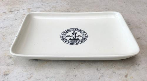 Edwardian c.1900 Butchers Display Plate - Central Parnall Stamp