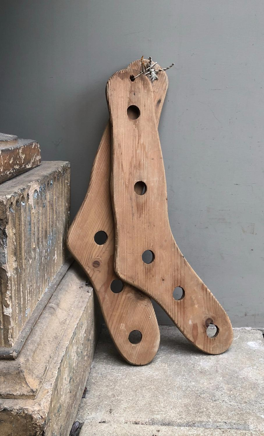 Pair of Late Victorian Pine Sock Driers