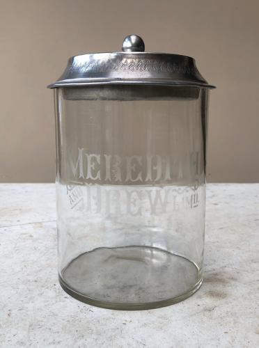 Early 20thC Shops Counter Top Advertising Jar - Meredith & Drew