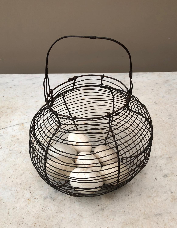 Antique Wire Work Egg Basket