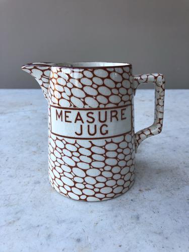 Rare Maling Cobblestone 1 Pint Measure Jug