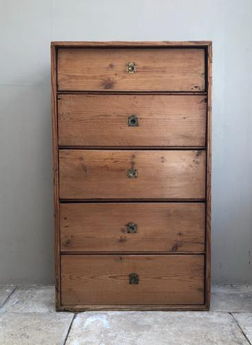 Victorian Pine Flight of Five Drawers