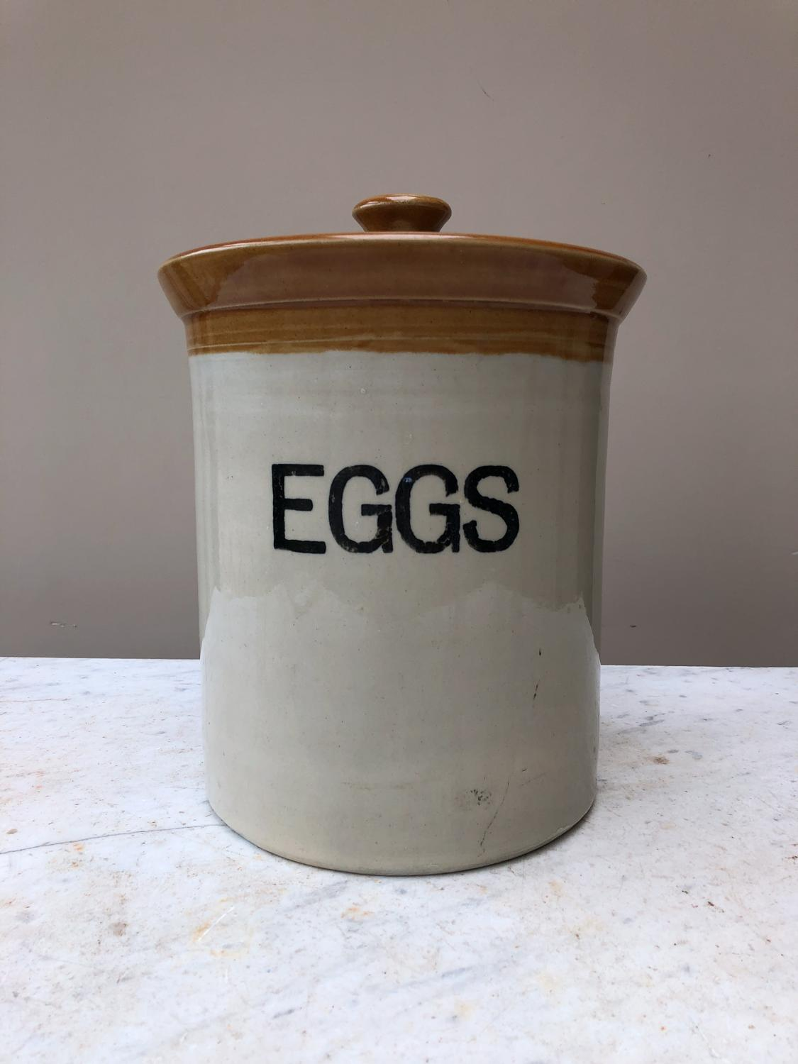 Early 20th Century Eggs Crock