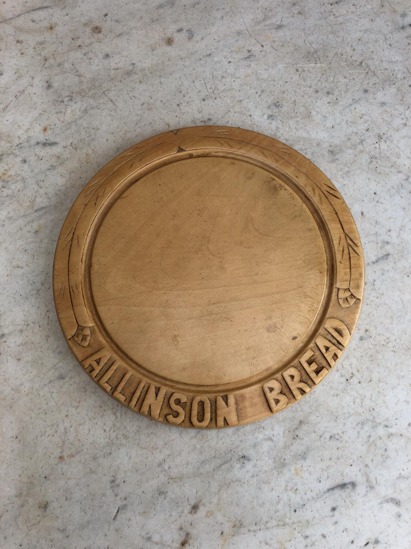 1920s Carved Bread Board - Allinson Bread