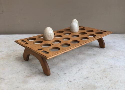 Early 20th Century Treen Two Dozen Egg Rack