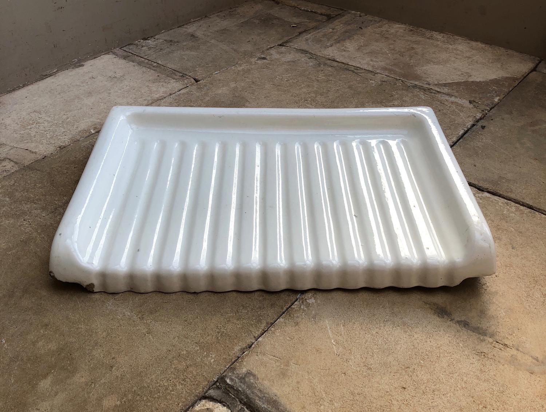 Antique White Ceramic Sink Draining Board