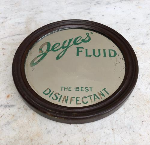 Antique Advertising Mirror - Jeyes Fluid