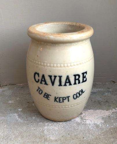 Wonderful Late Victorian Caviare To Be Kept Cool Pot