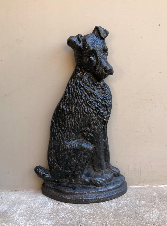 Late Victorian Cast Iron Dog Doorstop