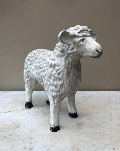 1950s Resin Butchers Display Lamb - Original Paint