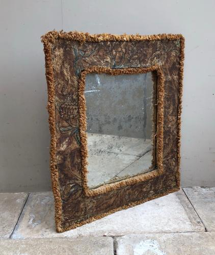 17th Century Needlework Framed Mirror