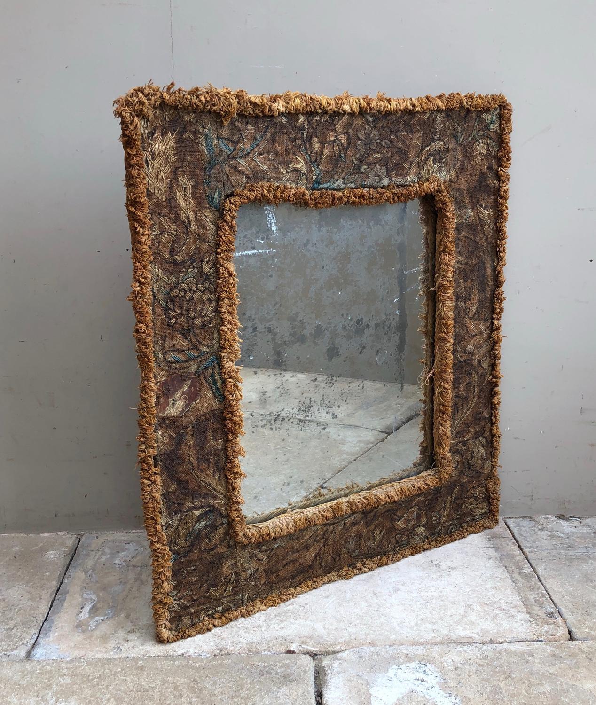 17th Century Needlework Framed Mirror