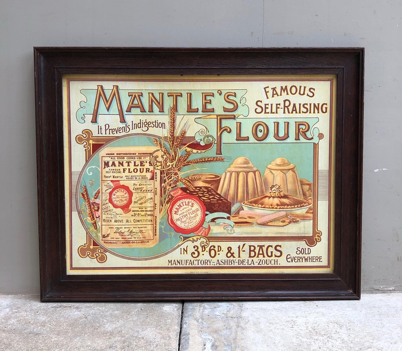Rare Large Edwardian Advertising Picture for Mantles Self Raising Flou