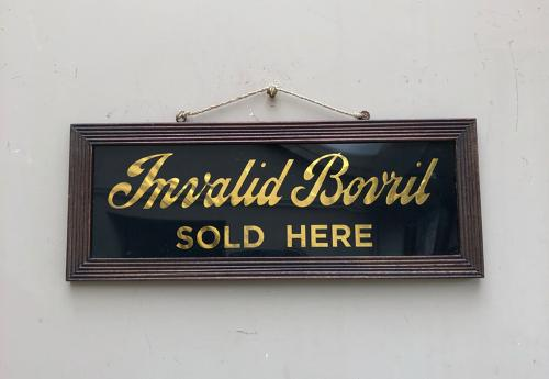1950-60s Shops Advertising Sign - Invalid Bovril Sold Here