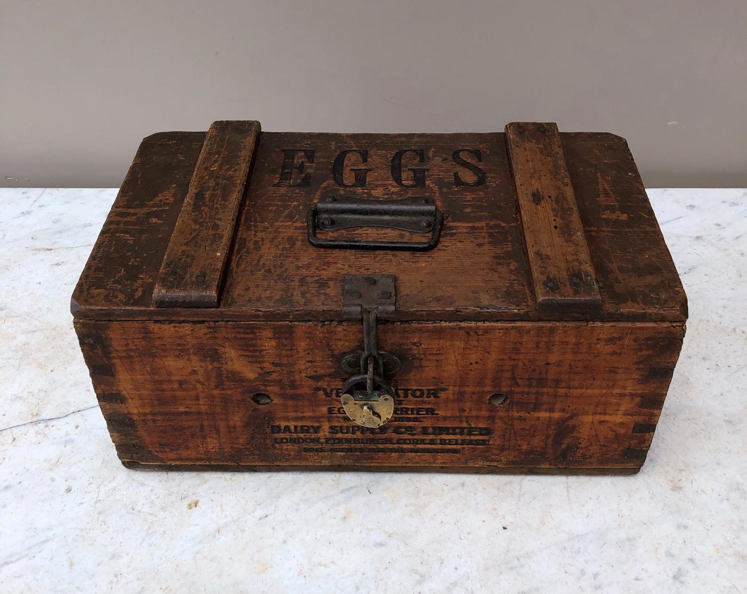 Early 20th Century Pine Travelling Eggs Box - Dairy Supply Co Limited
